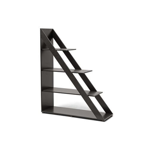 Baxton Studio Psinta Dark Brown Modern Shelving Unit