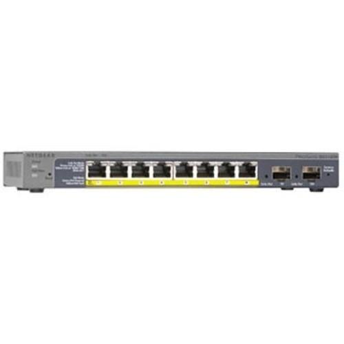Netgear 8-Port PoE Gigabit Smart Managed Switch w/ 2 Gigabit SFP Ports - GS110TP-200NAS