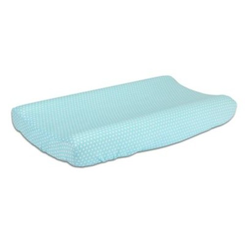 The Peanut Shell Dots Changing Pad Cover in Teal