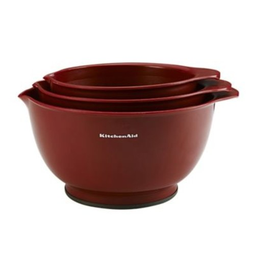 KitchenAid 3-Piece Classic Mixing Bowl Set in Red