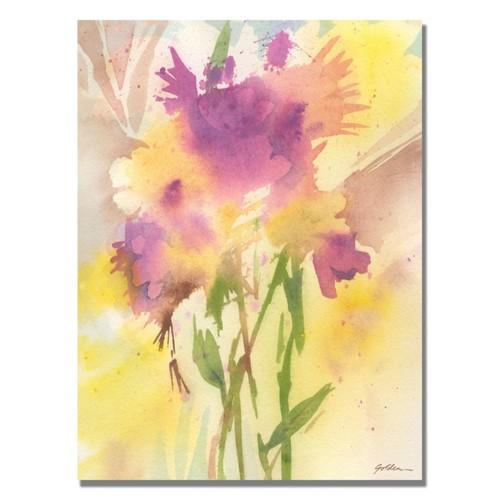 Trademark Fine Art Shelia Golden 'Maroon Shades' Canvas Art 22x32 Inches