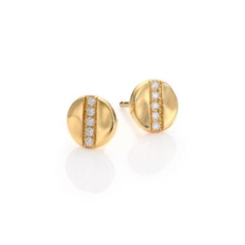 Glamazon Stardust Diamond & 18K Yellow Gold Stud Earrings