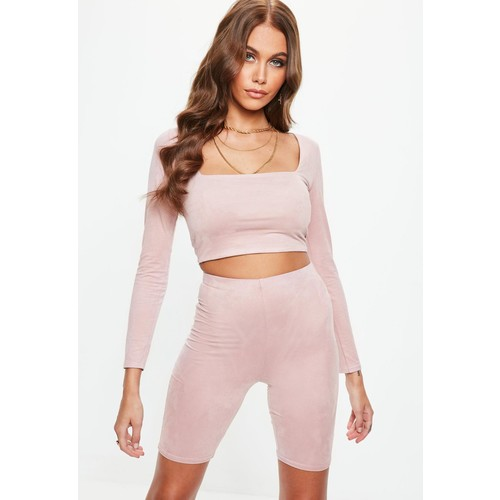 Pink Suede Cycling Shorts