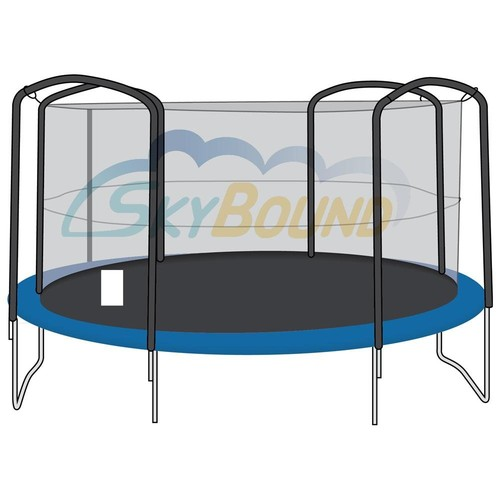 SkyBound 13 ft. (Trampoline Frame Size) Replacement Netting for 4 Arch Pole Enclosure Systems . (Fits Brands Bazoongi) (Net Only)
