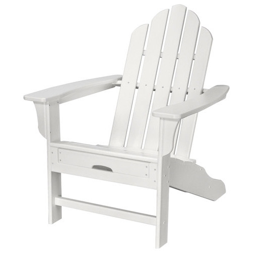 Hanover - All-Weather Adirondack Chair with Ottoman - White