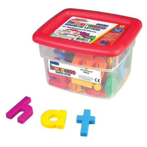 Educational Insights Lowercase Magnetic Letters, Multiple Colors, Set of 42