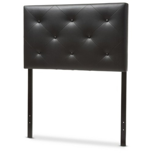 Baltimore Modern And Contemporary Faux Leather Upholstered Headboard - Baxton Studio