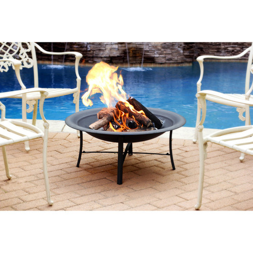 Jeco Fire Pits & Chimineas 30-inch Black Fire Pit