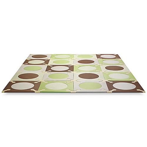 SKIP*HOP Playspot Green and Brown Interlocking Foam Tiles