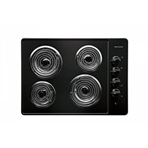 Frigidaire: FFEC3005LB 30'' Electric Cooktop with 4 Coil Heating Elements and Ready-Select Controls: Black