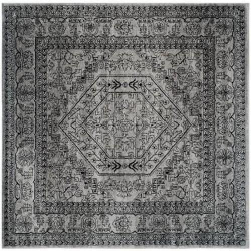 Safavieh Adirondack Silver/Black 8 ft. x 8 ft. Square Area Rug
