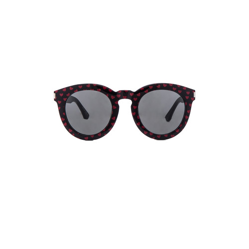 SAINT LAURENT Sl 102 Sunglasses In Black & Red Hearts