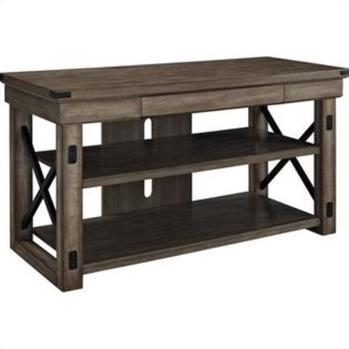 Ameriwood Home Wildwood Wood Veneer TV Stand for TVs up to 50'' Wide in Rustic Gray Oak