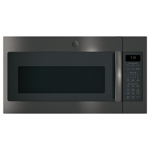 GE 1.9 cu. ft. Over the Range Sensor Microwave Oven in Black Stainless Steel