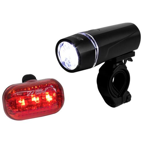 BV Quick-Release Bike Light Set, Super Bright 5 LED Headlight and 3 LED Rear Taillight