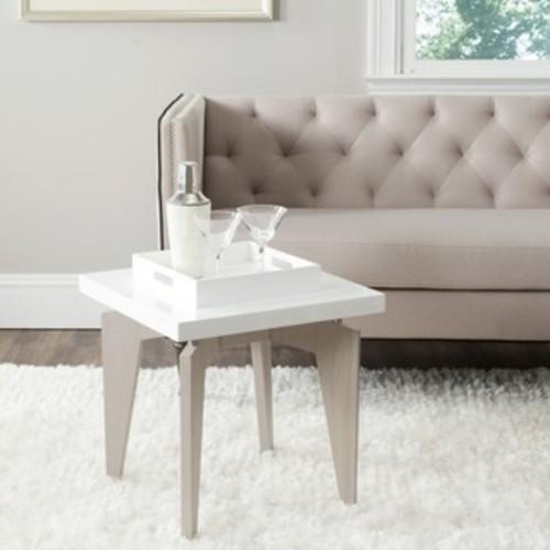 Safavieh Bartholomew White/ Grey Lacquer End Table