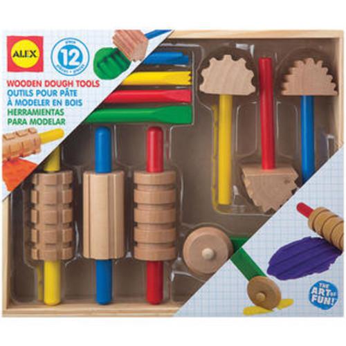 Alex Toys Wooden Dough Tools 11/Pkg-