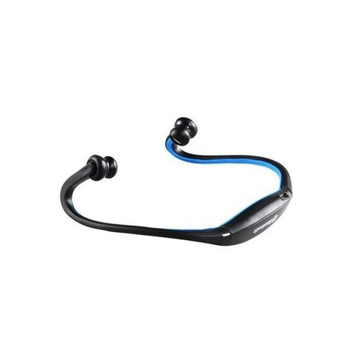 Wireless Bluetooth Headset Sports Stereo Headphone for Smart Cell Phone Blue