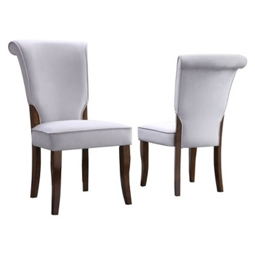 Pershing Dining Chair Wood/Gray (Set of 2) - Inspire Q