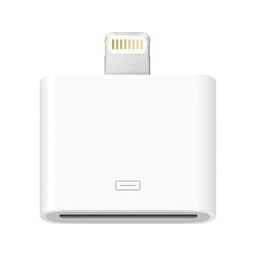 Apple Lightning to 30-pin adapter Use your iPhone 5 with your current gear with built-in docks