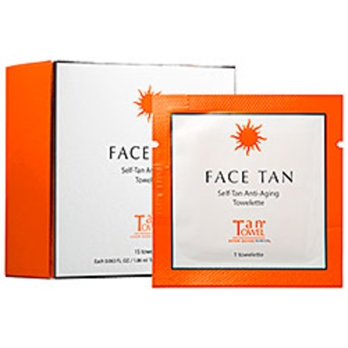 TanTowel Face Tan Self-Tan Anti-Aging Towelette