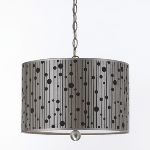 Drizzle 3-Light Drum Pendant by AF Lighting [Shade color : Grey]