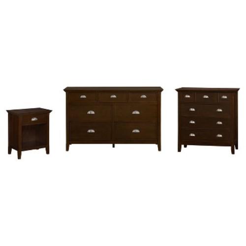 Acadian Bedroom Bedside Table Tobacco Brown - Simpli Home