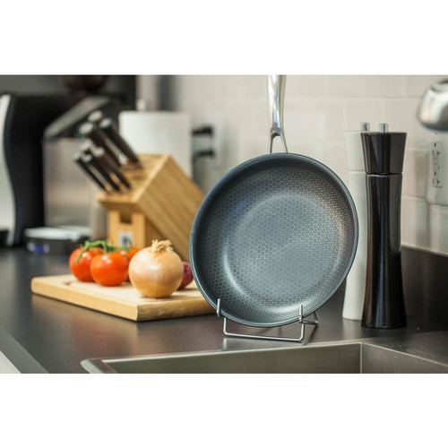 Black Cube Stainless Steel Fry Pan with Non-Stick Coating