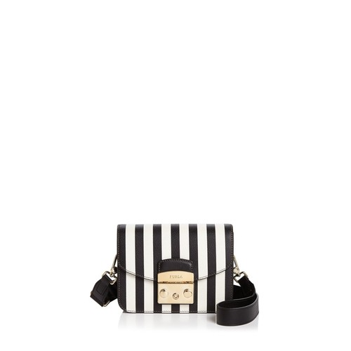 Metropolis Stripe Mini Leather Crossbody