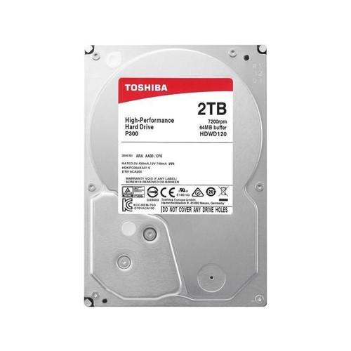 Toshiba P300 2TB Desktop PC Internal Hard Drive 7200 RPM SATA 6Gb/s 64 MB Cache 3.5 inch - HDWD120UZSVA (BULK)