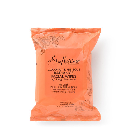 Shea Moisture Coconut & Hibiscus Radiance-Boosting Cleansing Facial Wipes