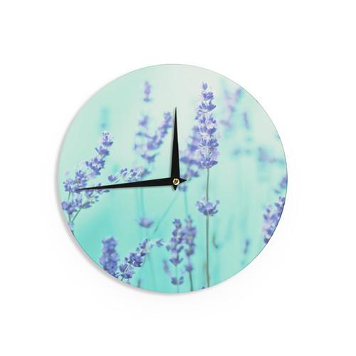 KESS InHouse Sylvia Cook 'Any Beach Day' Coastal Typography Wall Clock