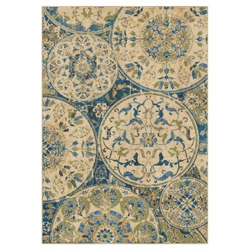 Orian Rugs Bright Aztec Mariner Field Blue Area Rug