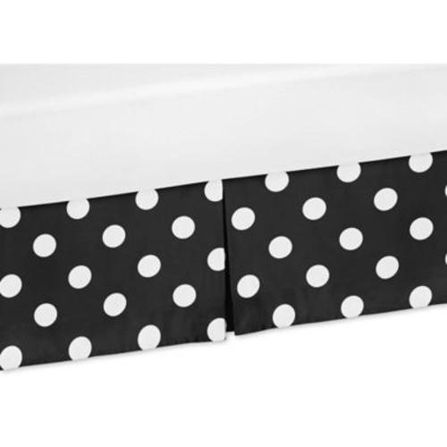 Sweet Jojo Designs Hot Dot Crib Skirt in Black/White