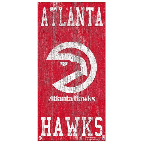 Atlanta Hawks Heritage Logo Wall Sign
