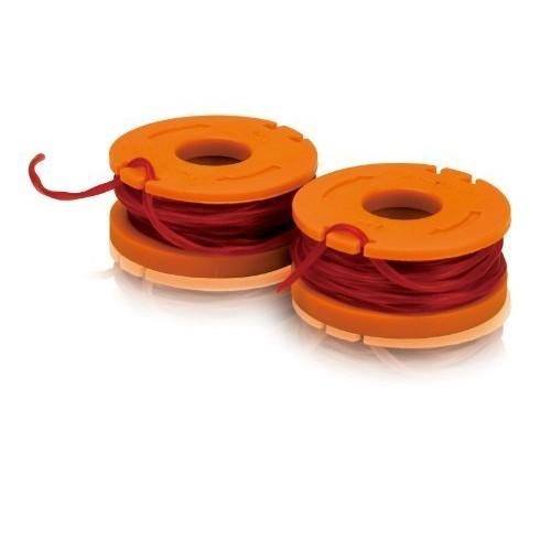 WORX WA0004 Replacement 10-Foot Grass Trimmer/Edger Spool Line 2-Pack for WG150s, WG151s, WG152, WG155, WG165, WG166, WG160, WG167, WG175 Garden, Lawn, Supply, Maintenance