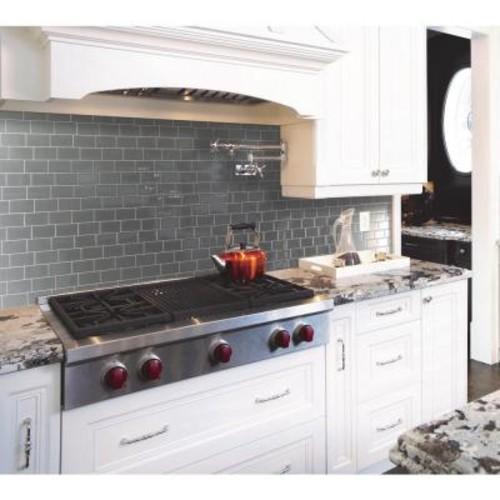Smart Tiles Metro Grigio 11.56 in. W x 8.38 in. H Peel and Stick Self-Adhesive Decorative Mosaic Wall Tile Backsplash