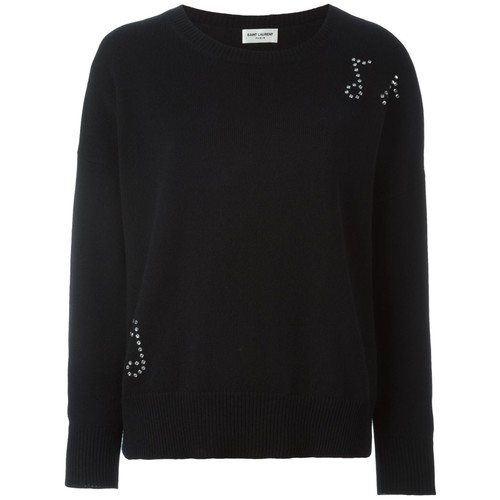 SAINT LAURENT Music Note Studded Jumper