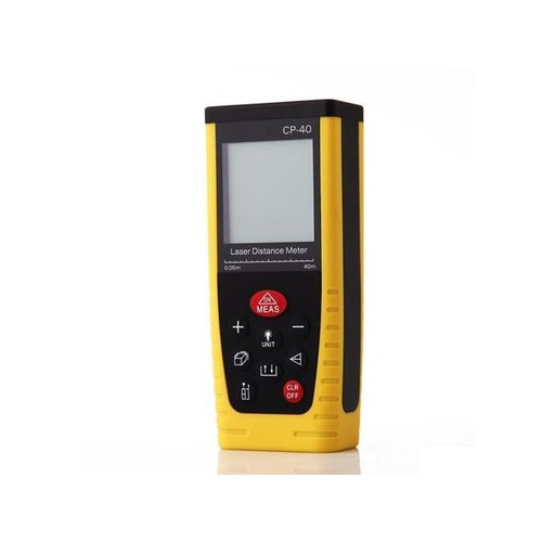 CP-40 Hand-held Laser Distance Meter with LCD Night Light Black&Yellow