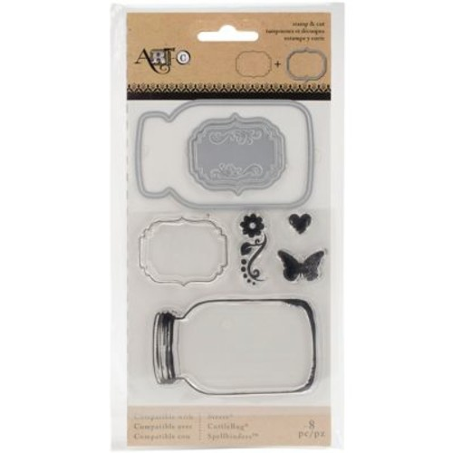 Art-C Stamp & Die Set-Mason Jars