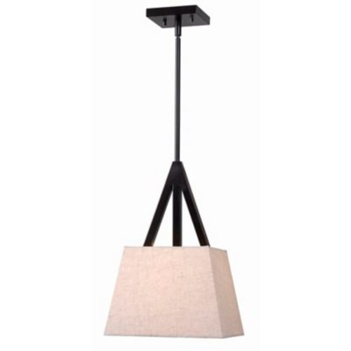 Kenroy Home Intersect 1-Light Pendant in Bronze