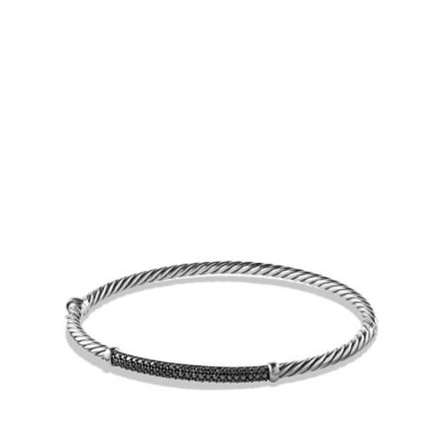 Petite Pav Bracelet with Black Diamonds