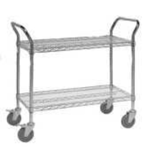 Quantum Storage Systems WRC-1848-3 3-Tier Wire Utility Cart with 3 Wire Shelves, 5