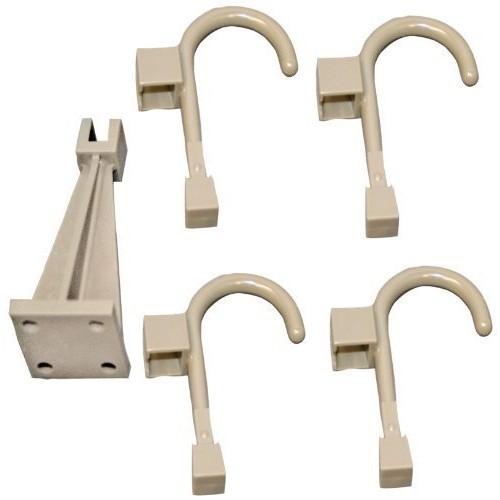 Global Door Controls Wall Hanger and 4 Universal Hooks in Warm Gray