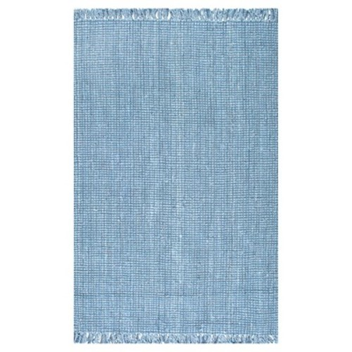 nuLOOM Chunky Loop Jute Blue 8 ft. 6 in. x 11 ft. 6 in. Area Rug