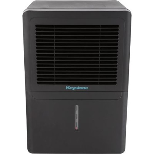 Keystone 50-Pint Dehumidifier in Black