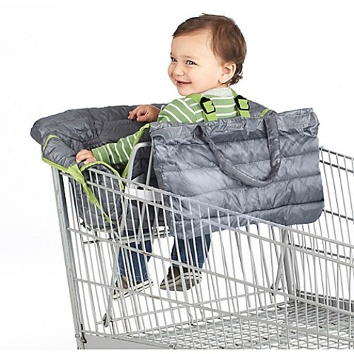 Nuby Quilted Shopping Cart and High Chair Cover in Grey