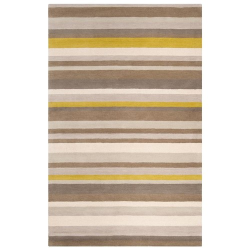 angelo:HOME Loomed Brown Madison Square Wool Rug (2' x 3')