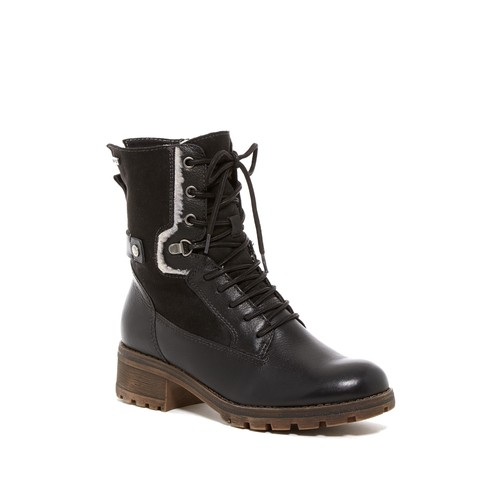 Talues Faux Shearling Lined Combat Boot