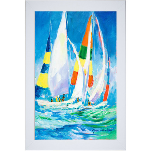 Jane Slivka 'Come Sail Away' Framed Art